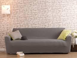 housse universelle canapé housse de canapé 3 places bi extensible gris
