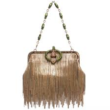 tom ford for gucci dragon chain fringe evening bag spring