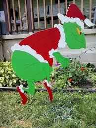 Christmas Decoration Grinch Stealing Lights