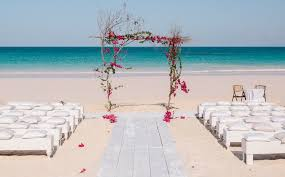 Wooden Altar Decorated With Fuchsia Bougainvillea