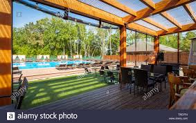 Summer Empty Outdoor Cafe At Park. Bar - Cafe With A Modern Design ... Cool Lounge Fniture Outdoor Modular Bar Lounge Fniture Milo Baughman Style Cy Mann Mid Century Modern Flat Chrome Chairs Pair Of Vertical Hippy Chair And Stool Model Max 1 Bedroom Uk Rmjoy Of Parallel By F Knoll 1959s New Rattan Garden Bar Set Vita Rattan Table And Chairs For Balcony Or Terrace Dark Brown By 1970s Vintage A Rio De Janeiro Brazil March 17 2019 Poolside Living Room Inspirational Thayer Coggin