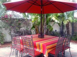 Outdoor Tablecloth With Umbrella Hole Uk by Custom Made Tablecloths