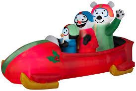 animated bobsled team penguin snowman and teddy bear rite aid
