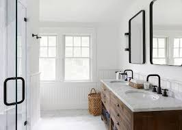 Industrial Modern Bathroom Mirrors by 16 Modern Farmhouse Bathrooms