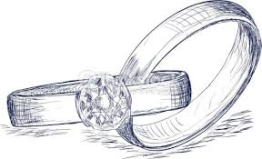 Wedding Rings Sketch Vector Art Thinkstock