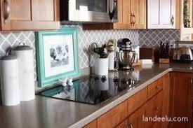 Easy DIY Vinyl Kitchen Backsplash