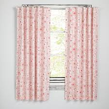 Light Pink Ruffle Blackout Curtains by Go Lightly Curtains Pink The Land Of Nod
