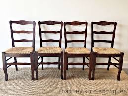 French Vintage Dining Chairs Ladder Back Set Of Four Rush Seats * H056b Guy Chaddock Melrose Custom Handmade Fniture Cf0485s Country French Ding Chairs With Ladder Back And Rush Seats Antique Farm Carved Tall Seat Room Set Of 6 Provincial In Walnut 10 Louis Xv Style Oak Leather Nailhead Recliner Chair Vintage White Of Four Six Xiv Ladderback Scalloped Stretchers Inspire Q Eleanor Wood 2 By Dec 16 2018