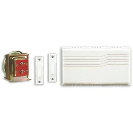 Heath Zenith 102-A Wired Door Chime Contractor Kit with Mixed Push Buttons - White