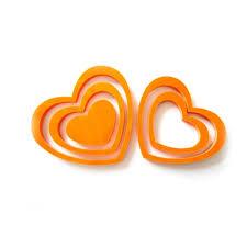 3d herzen 5er set wandtattoo dekoration 3d deko orange