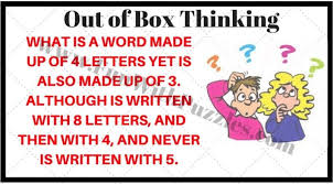 Out of Box Thinking Riddles for Smart People with Answers