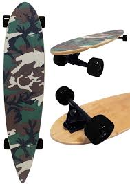 100 Reverse Kingpin Trucks Details About Army Camo PINTAIL LONGBOARD Skateboard COMPLETE 9 In X 43 In