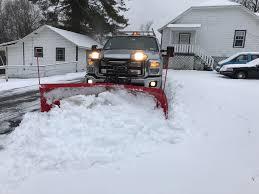 Pushing Snow, Sleet, And Freezing Rain In NY. : Trucks