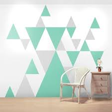 Painting Designs On Walls 6 Cool Geometric Pattern Giant Wall Sticker Set Decals Perfect For Completeing