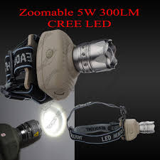 le frontale led cree 5w zoomable 300lm headlight headl 6 modes