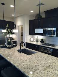 Light Tile Floors Dark Kitchen Cabinets With Ideas Farm D On Flooring Brown