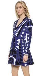 parker napa knit dress in blue lyst