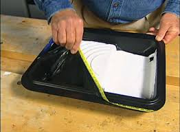 A Paint Tray With Peel Away Lining For Cleaning