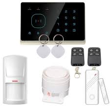 écran tactile 433 mhz rfid système d alarme maison sans fil gsm