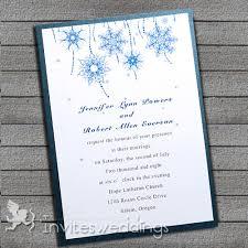 Blue Snowflake Winter Layered Wedding Invites IWFC003