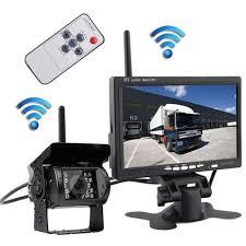 100 Backup Camera System For Trucks Pumpkin1 12V24V Wireless 7 TFT LCD HD 800480 Color