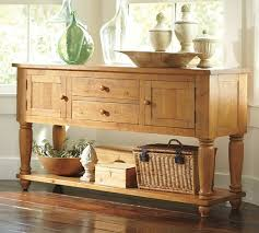 pottery barn sumner buffet wax pine console table sideboard