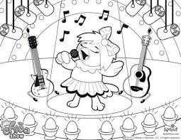 Chica The Rock Star Show Coloring Pages For Kids