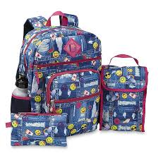 Confetti Girls Backpack Lunch Bag Pencil Case Water Bottle