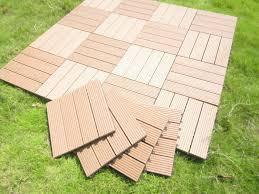 Kon Tiki Wood Deck Tiles by Floor Acacia Wood 6 Slat Interlocking Deck Tiles With Round Fire