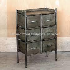 industrie vintage eisen metall 6 schubladen wohnzimmer