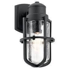 seeded glass outdoor wall light black kichler lighting 49858bkt