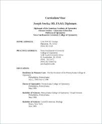 7 Free Resume Templates Optometrist Template Word Documents Download Windows