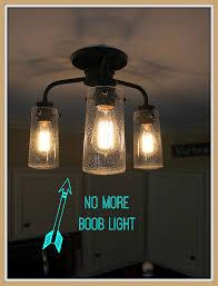 vintage style kitchen lighting update buh bye light