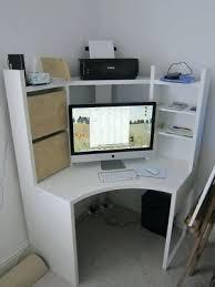 desk ikea micke corner workstation desk unit white with birch