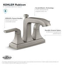 kohler rubicon 4 in centerset 2 handle bathroom faucet in vibrant