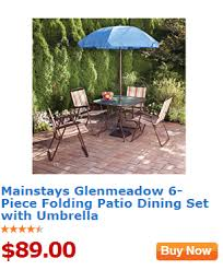 Walmart Patio Tables With Umbrellas by Walmart Value Of The Day Mainstays Glenmeadow 6 Piece Folding