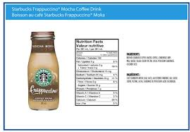 Starbucks Frappacino Nutrition Facts