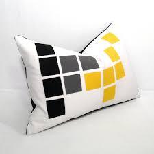 Decorative Outdoor Lumbar Pillows by Outdoor Pillows Grey Geometric Gustitosmios