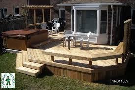 bench diy deck plans