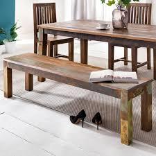 sitzbank kalkutta 160 x 45 x 38 cm mango massivholz esszimmerbank landhaus holzbank für 3 4 personen shabby chic bank für esszimmer tisch