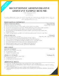 Receptionist Administrative Assistant Job Description Template N Example Sample Resumes For Resume Responsibilities