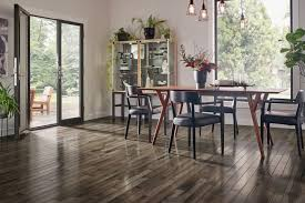 Inspired Gray Hickory Solid Hardwood In The Kitchen