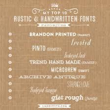 My Top Ten Favorite Rustic And Handwritten Fonts