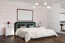 weiße muster schlafzimmer ecke poster dekoration raum