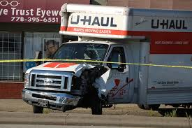 UPDATE: Woman Arrested After U-Haul Truck Crashes Into Surrey Bus ...