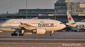 air transat lyon montreal air transat a310 308 c fdat ts493 from lyon lys landing on rwy