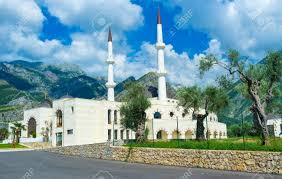 Nova Dzamija New Mosque Is Surrounded By Olive Garden With