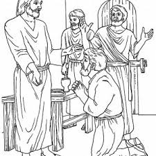 Disciples Thomas Of Jesus Ask For Blessing Coloring Page