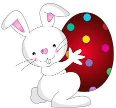 White Easter Bunny Transparent PNG Clip Art Image