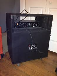 Fender 2x10 Guitar Cabinet by Sold Eden D Ah 210t 2x10 Cab And Swr Bass 350 Pre Fender Head